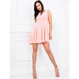 Asymetrické růžové šaty - M6 velikost: 2XL, odstíny barev: růžová