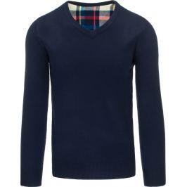 BASIC Pánský modrý svetr (wx0671) velikost: XL, odstíny barev: modrá