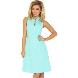 NUMOCO Mátové šaty s límečkem 133-5 velikost: XL, odstíny barev: zelená