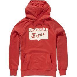 Onitsuka Tiger Hoodie velikost: M, odstíny barev: červená