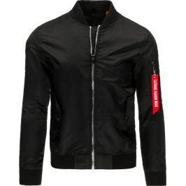 BASIC Pánská černá bunda (tx1530) velikost: 2XL, odstíny barev: černá