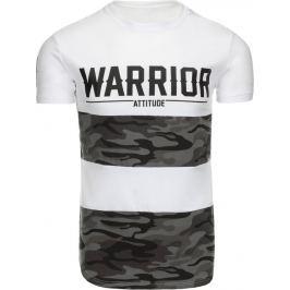 BASIC Bílé tričko WARRIOR (rx1780) velikost: 2XL, odstíny barev: bílá