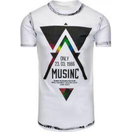 BASIC Bílé tričko MUSINC (rx1781) velikost: 2XL, odstíny barev: bílá