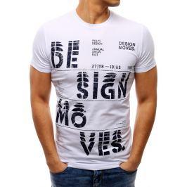 BASIC Bílé tričko DESIGN (rx1802) velikost: 2XL, odstíny barev: bílá