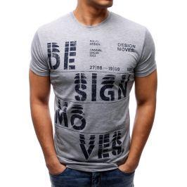 BASIC Šedé tričko DESIGN (rx1804) velikost: 2XL, odstíny barev: šedá