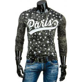 BASIC Pánské černé tričko Paris (lx0321) velikost: 2XL, odstíny barev: černá