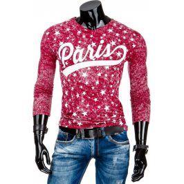 BASIC Pánské červené tričko Paris (lx0322) velikost: 2XL, odstíny barev: červená