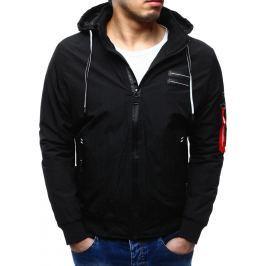 BASIC Pánská černá bunda jaro/podzim (tx1582-Nature RXM-3913) velikost: 2XL, odstíny barev: černá