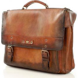 DAAG Pánská hnědá kožená taška na notebook ALIVE 9 (dg46a) Velikost: univerzální