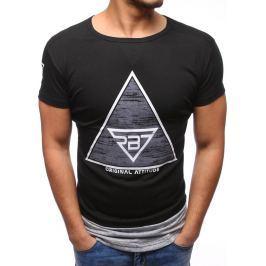 BASIC Černé tričko s potiskem (rx1898) velikost: 2XL, odstíny barev: černá