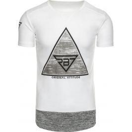 BASIC Bílé tričko s potiskem (rx1900) velikost: 2XL, odstíny barev: bílá