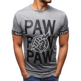 BASIC Antracitové tričko s potiskem (rx1902) velikost: 2XL, odstíny barev: šedá