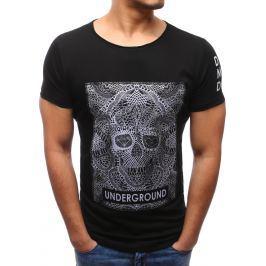 BASIC Černé tričko s potiskem (rx1924) velikost: 2XL, odstíny barev: černá