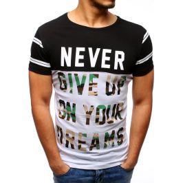 BASIC Černé tričko s potiskem (rx1927) velikost: 2XL, odstíny barev: černá