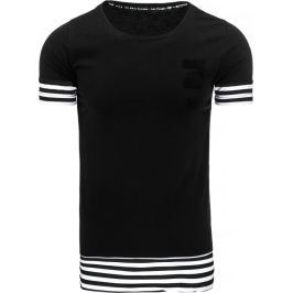 BASIC Černé tričko s potiskem (rx1929) velikost: 2XL, odstíny barev: černá