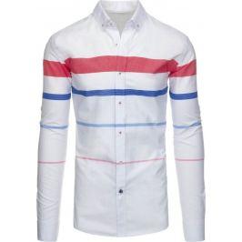 BASIC Pánská bílá košile (dx1288) Velikost: S