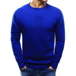 BASIC Pánská modrá mikina (bx2231) velikost: M, odstíny barev: modrá