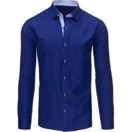 BASIC Pánská tmavě modrá košile (dx1294) velikost: 2XL, odstíny barev: modrá