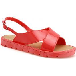 BASIC Červené sandály - 5029 Velikost: 41