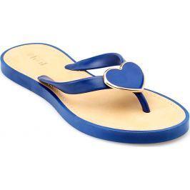 Modré žabky - 5189 velikost: 37, odstíny barev: modrá