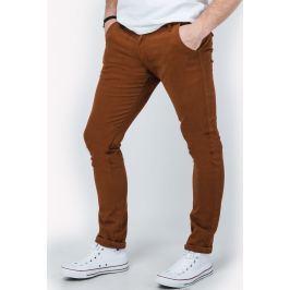 Pánské hnědé kalhoty - GM321 velikost: S, odstíny barev: hnědá