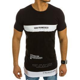 BASIC Pánské černé tričko s potiskem (rx1974) velikost: 2XL, odstíny barev: černá