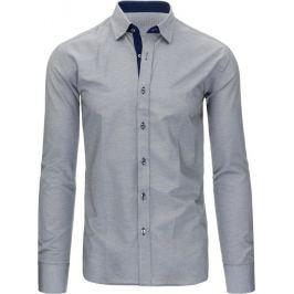 BASIC Šedá košile s dlouhým rukávem (dx1296) Velikost: 2XL