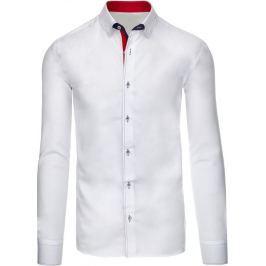 BASIC Bílá košile s dlouhým rukávem (dx1310) velikost: 2XL, odstíny barev: bílá