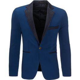 BASIC Modré sako casual (mx0292) velikost: S, odstíny barev: modrá