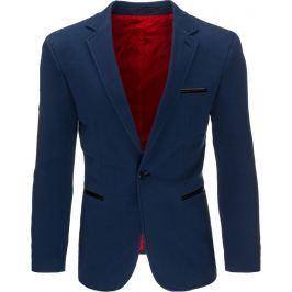 BASIC Elegantní tmavě modré sako (mx0293) velikost: S, odstíny barev: modrá