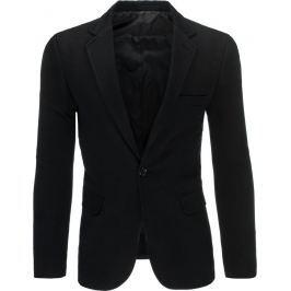 BASIC Elegantní černé sako (mx0295) velikost: 2XL, odstíny barev: černá