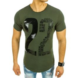 BASIC Pánské zelené tričko s potiskem (rx2072) velikost: 2XL, odstíny barev: zelená