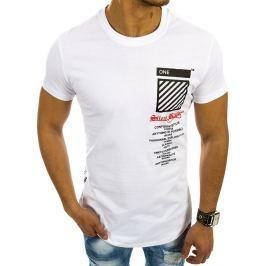BASIC Bílé tričko s nápisem (rx2092) velikost: 2XL, odstíny barev: bílá