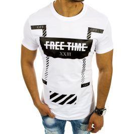 BASIC Bílé tričko s nápisem (rx2103) velikost: 2XL, odstíny barev: bílá