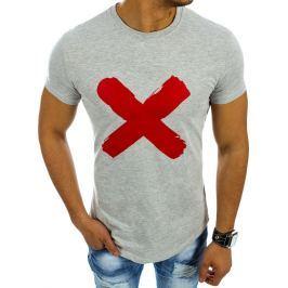 BASIC Šedé tričko s nápisem (rx2106) velikost: 2XL, odstíny barev: šedá