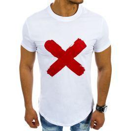 BASIC Bílé tričko s nápisem (rx2107) velikost: 2XL, odstíny barev: bílá