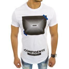 BASIC Bílé tričko s nápisem (rx2109) velikost: 2XL, odstíny barev: bílá