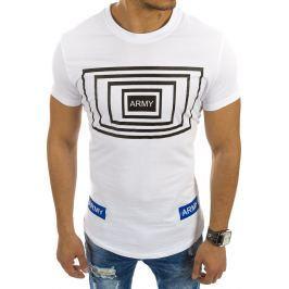 BASIC Bílé tričko s nápisem (rx2120) velikost: 2XL, odstíny barev: bílá