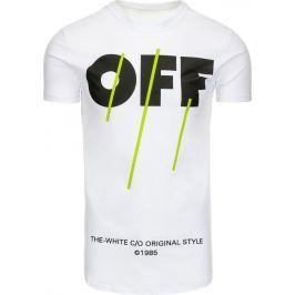 BASIC Bílé tričko s nápisem (rx2131) velikost: 2XL, odstíny barev: bílá