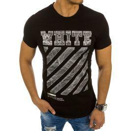 BASIC Černé tričko s nápisem (rx2142) velikost: 2XL, odstíny barev: černá