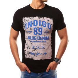 BASIC Černé tričko s nápisem (rx2158) velikost: 2XL, odstíny barev: černá