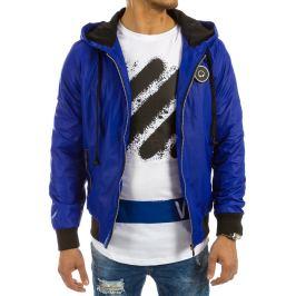 BASIC Pánská modrá bunda jaro/podzim (tx1653) Velikost: 2XL