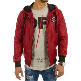 BASIC Pánská červená bunda jaro/podzim (tx1654) velikost: 2XL, odstíny barev: červená