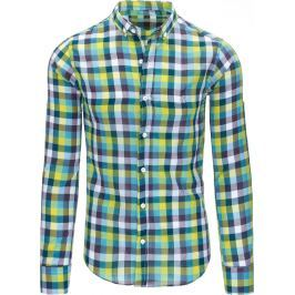 BASIC Pánská košile s dlouhým rukávem (dx1317) velikost: L, odstíny barev: barevná