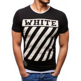 BASIC Černé tričko s potiskem (rx2164) velikost: L, odstíny barev: černá
