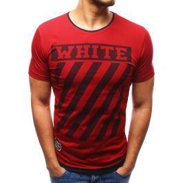 BASIC Bordové tričko s potiskem (rx2165) velikost: L, odstíny barev: červená