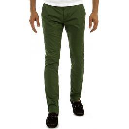 BASIC Pánské plátěné zelené kalhoty (ux0882) velikost: 29, odstíny barev: zelená