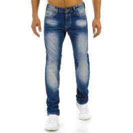 BASIC Pánské modré džíny (ux0886) velikost: 30, odstíny barev: modrá