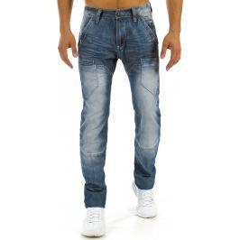 BASIC Pánské modré džíny (ux0889) velikost: 29, odstíny barev: modrá