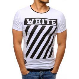 BASIC Bílé tričko s potiskem (rx2174) velikost: L, odstíny barev: bílá
